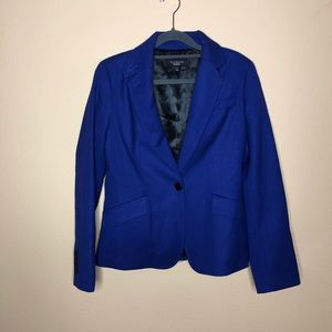 Talbots Purple Blue Wool Blazer Size 6